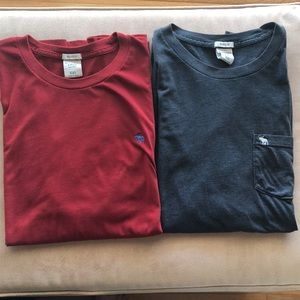(2) Men's Abercrombie & Fitch t-shirts, size xxl
